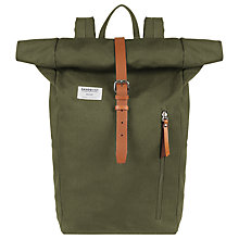 Buy Sandqvist Dante Backpack, Olive Online at johnlewis.com