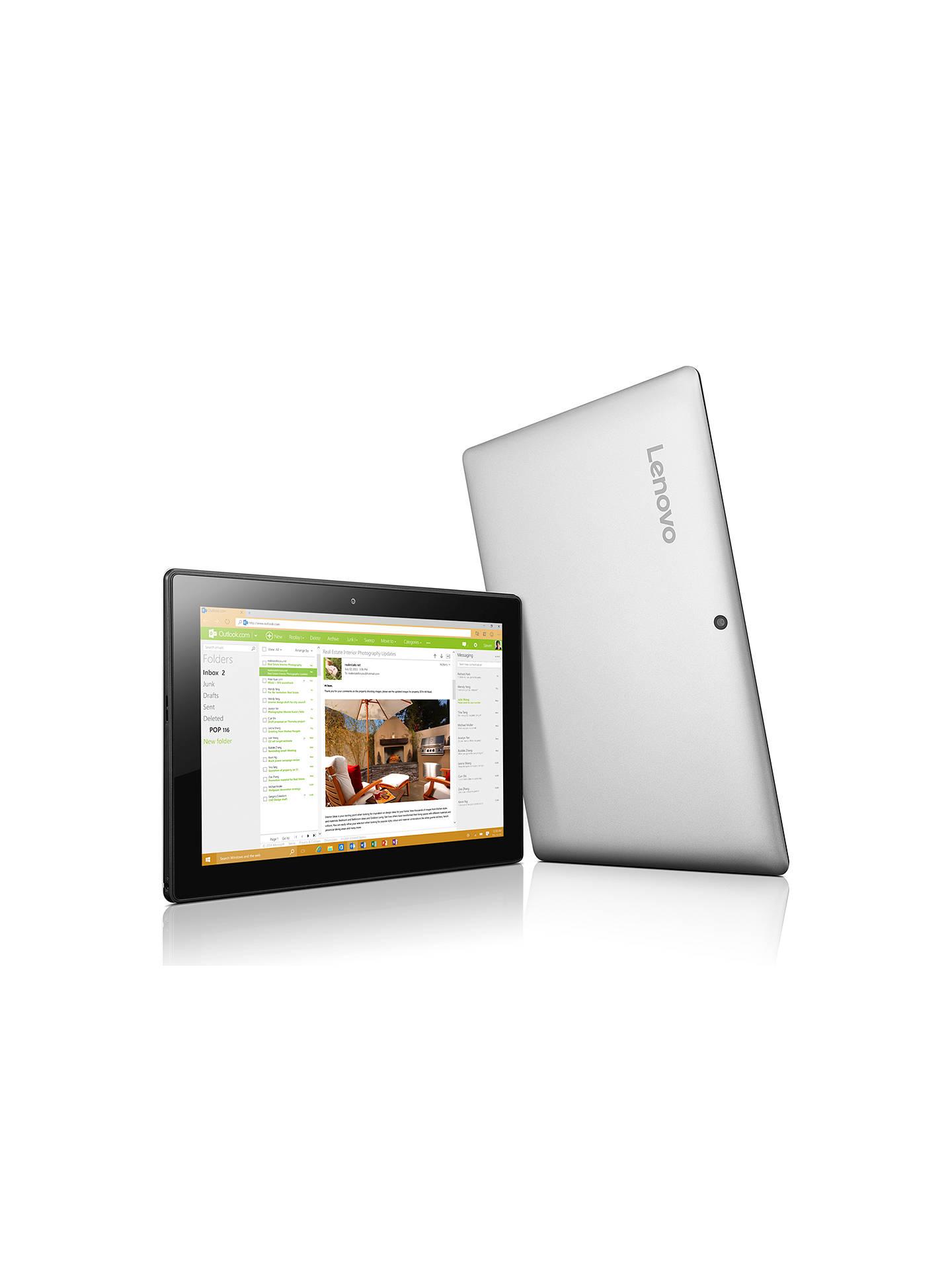 Lenovo Miix 310 Tablet with Detachable Keyboard, Intel Atom, 2GB RAM, 32GB  eMMC, 10 1