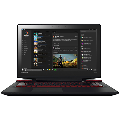 Image of Lenovo Ideapad Y700 Gaming Laptop, Intel Core i7, 16GB RAM, 1TB HDD + 256GB SSD, NVIDIA GTX 960, 15.6 Ultra HD (4K), Black