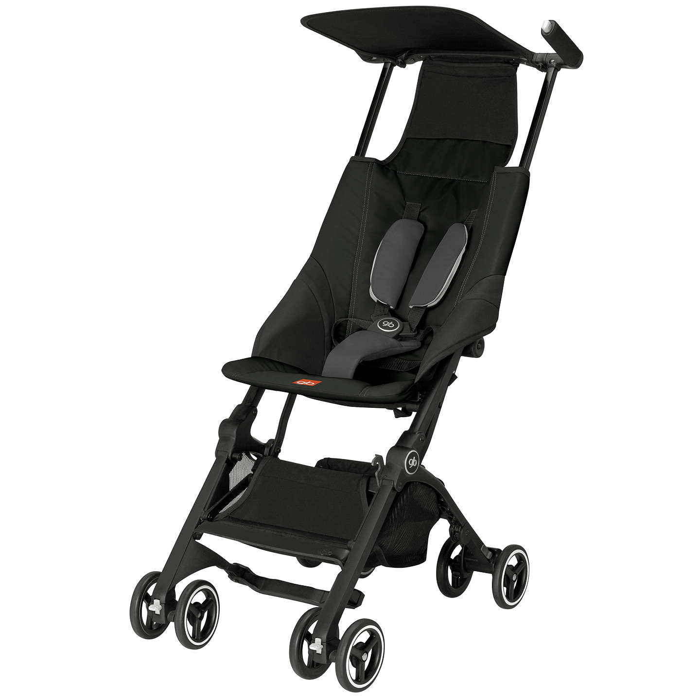 offer gb pockit stroller black at john lewis