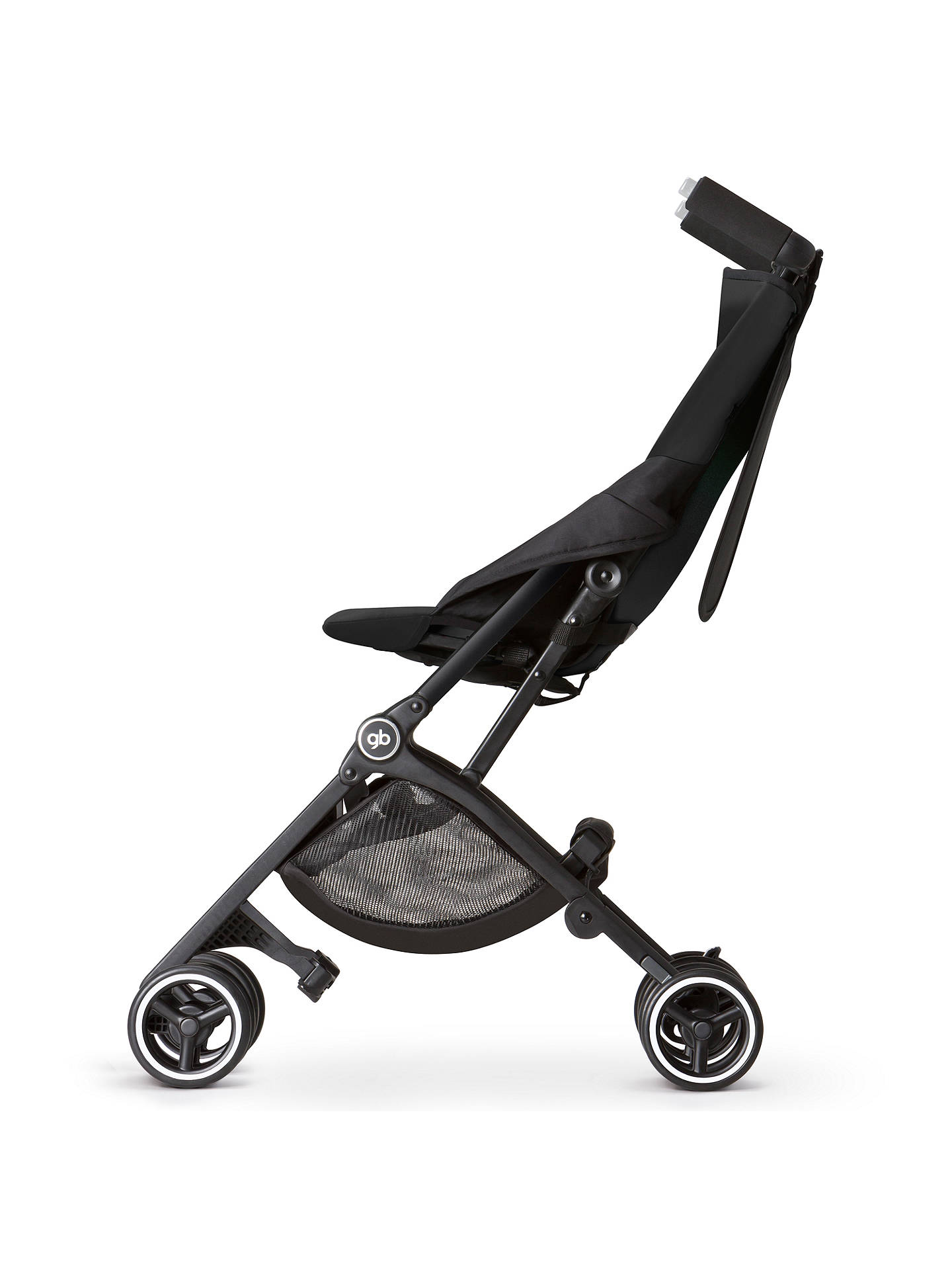 gb pockit stroller black at john lewis partners
