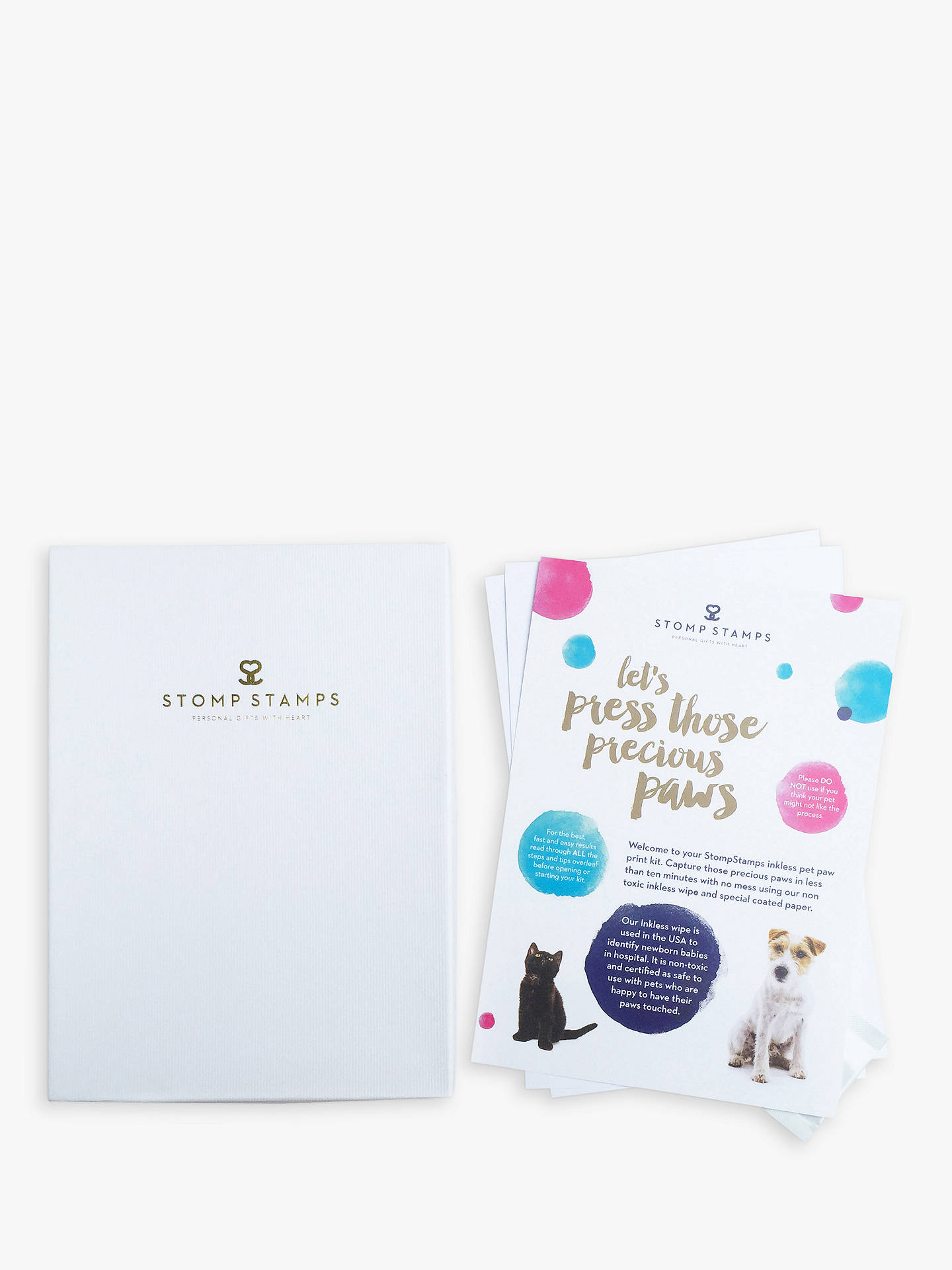 Buy StompStamps Pet Inkless Paw Print Kit Online at johnlewis.com