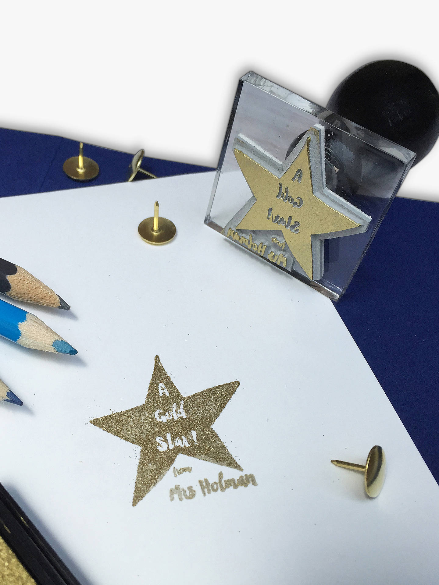 BuyStompStamps Personalised Star Teacher Gift Stamp Online at johnlewis.com