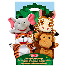 Buy Melissa & Doug Zoo Friends Hand Puppets, Pack of 4 Online at johnlewis.com