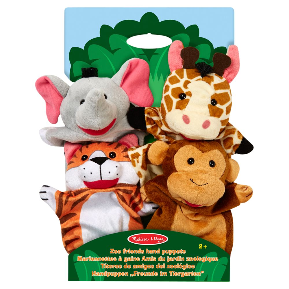 Melissa & Doug Melissa & Doug Zoo Friends Hand Puppets, Pack of 4