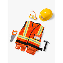 Buy Melissa & Doug Construction Worker Costume, 3-6 years Online at johnlewis.com