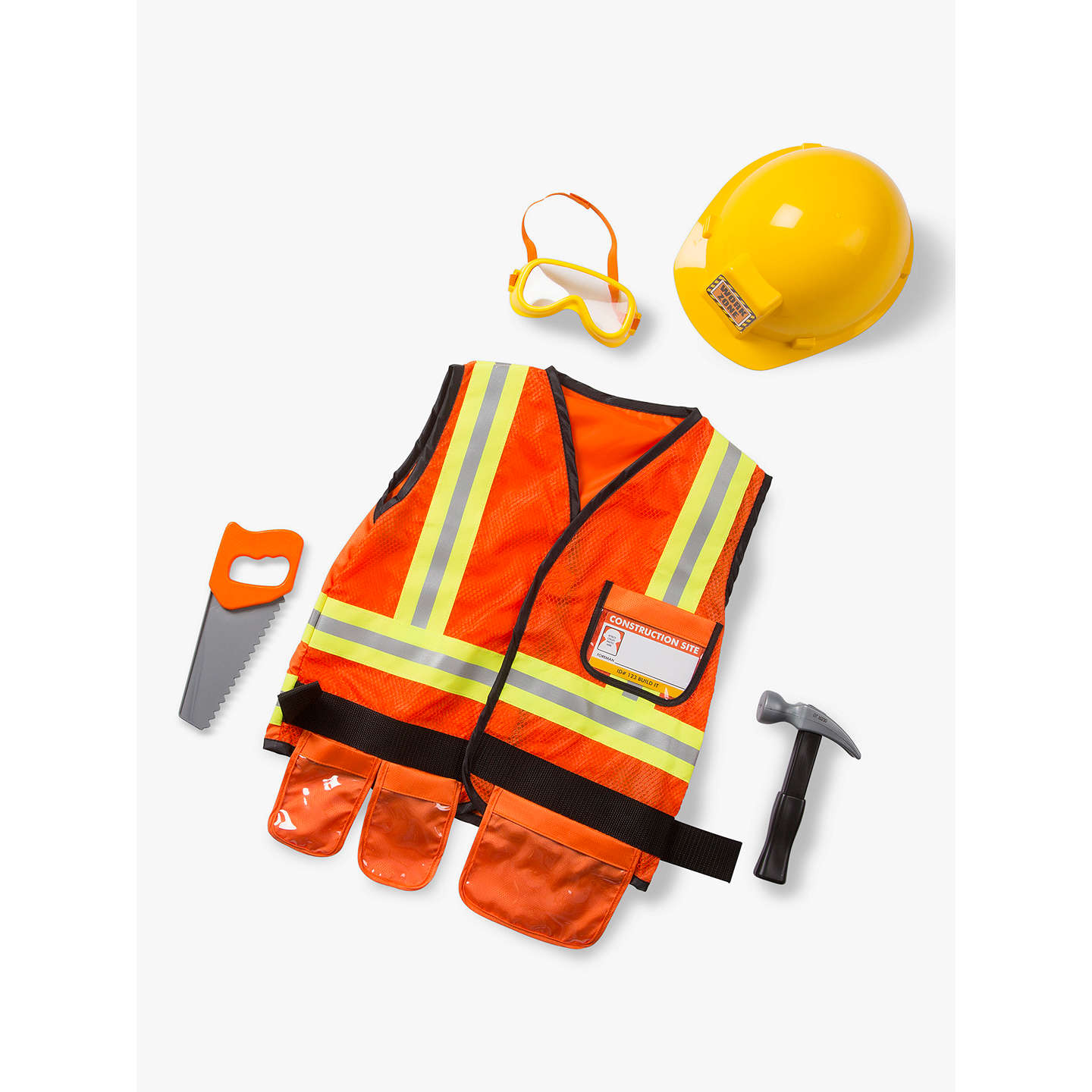 BuyMelissa & Doug Construction Worker Costume, 3-6 years Online at johnlewis.com
