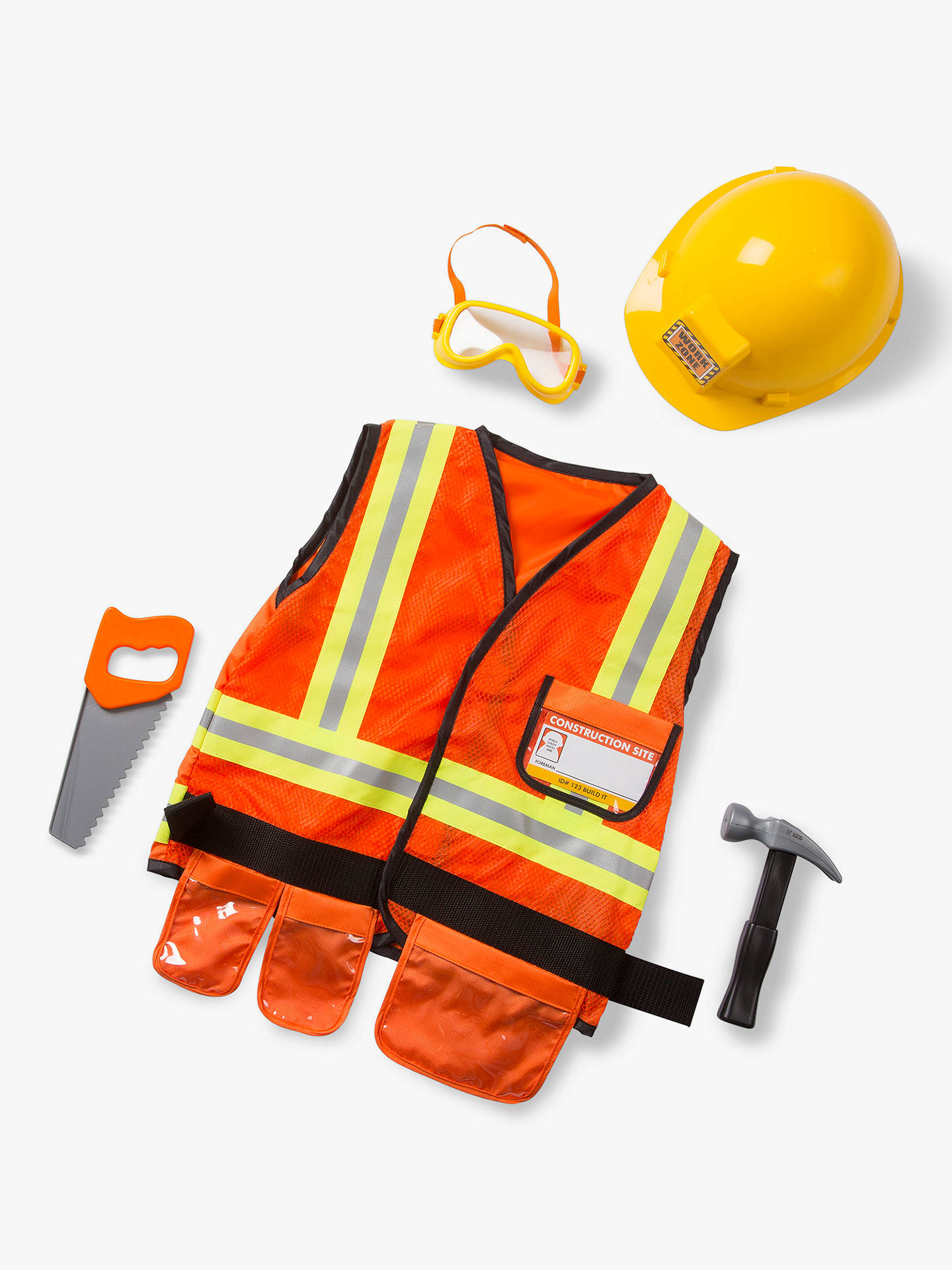 Melissa Doug Construction Worker Childrens Costume 3 6 Years At