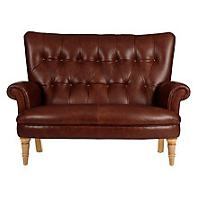Buy John Lewis Hambleton Leather Snuggler, Light Legs Online at johnlewis.com