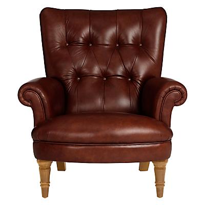 John Lewis Hambleton Leather Armchair, Vintage Legs