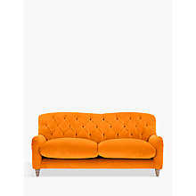 Buy Crumble Medium 2 Seater Sofa by Loaf at John Lewis in Clever Velvet Spiced Orange, Light Leg Online at johnlewis.com