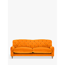 Buy Crumble Large 3 Seater Sofa by Loaf at John Lewis in Clever Velvet Spiced Orange, Light Leg Online at johnlewis.com