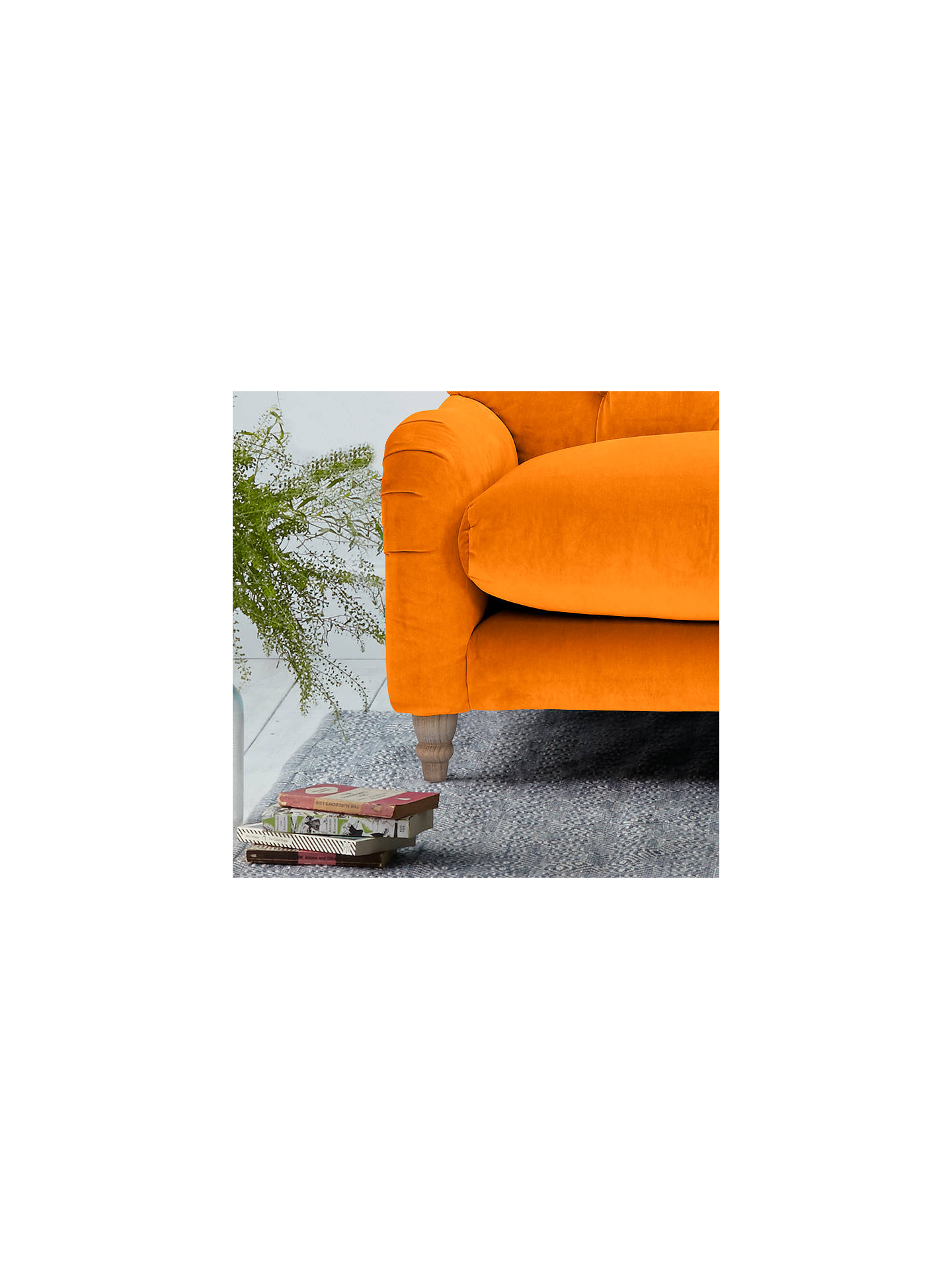 BuyCrumble Large 3 Seater Sofa by Loaf at John Lewis, Clever Velvet Spiced Orange Online at johnlewis.com