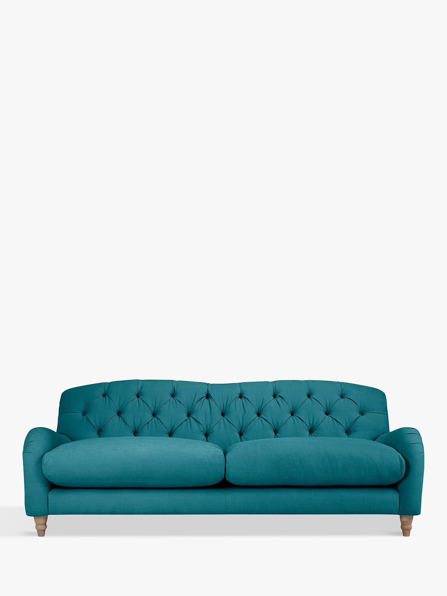 BuyCrumble Large 3 Seater Sofa by Loaf at John Lewis, Brushed Cotton Teal Online at johnlewis.com