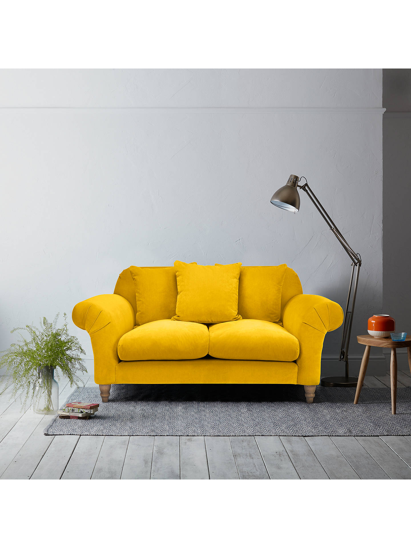 Buy Doodler Small 2 Seater Sofa by Loaf at John Lewis in Bumblebee Clever Velvet, Light Leg Online at johnlewis.com
