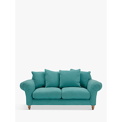 Doodler 2 Seater Sofa by Loaf at John Lewis in Peacock Brushed Cotton, Light Leg