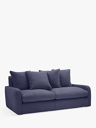 Floppy Jo Medium 2 Seater Sofa by Loaf at John Lewis in Brushed Cotton Navy Blue