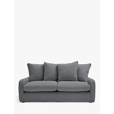Floppy Jo Medium 2 Seater Sofa by Loaf at John Lewis in Gunmetal Brushed Cotton, Light Leg