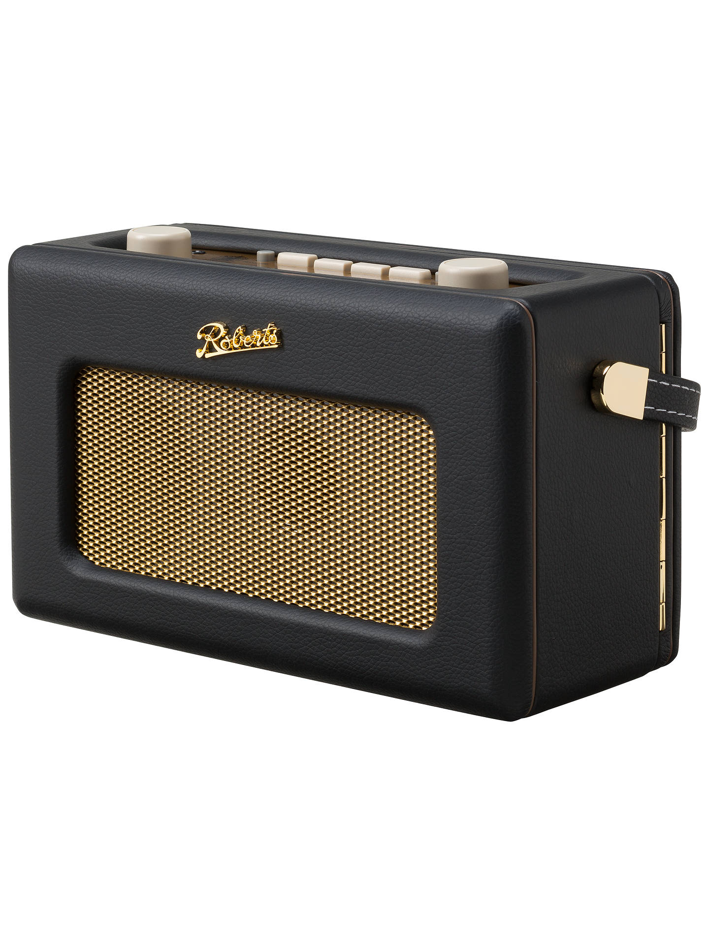 BuyROBERTS Revival RD60 DAB Digital Radio, Black/Gold Online at johnlewis.com