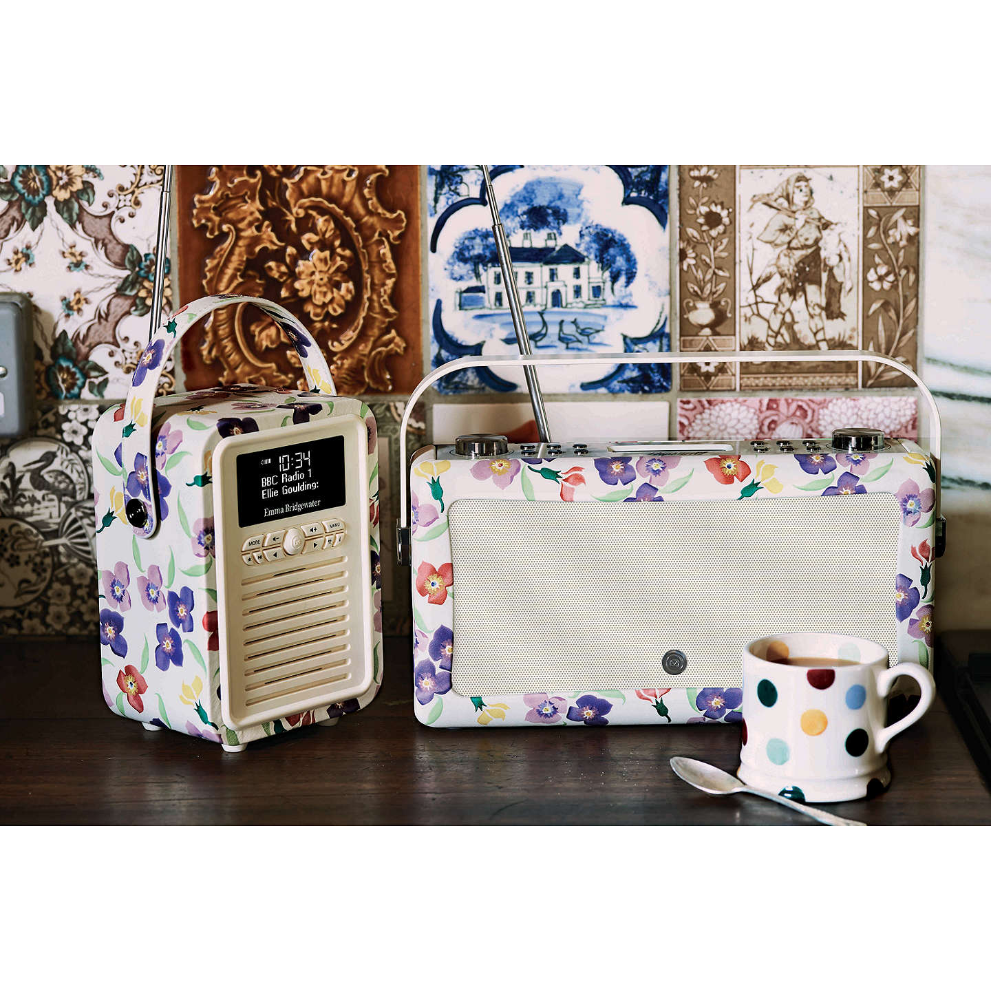 BuyVQ Retro Mini DAB/FM Bluetooth Digital Radio, Emma Bridgewater Patterns, Wallflower Online at johnlewis.com