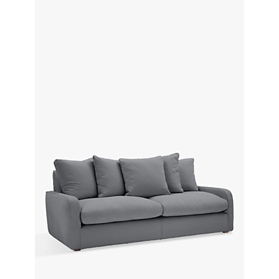 Floppy Jo Large 3 Seater Sofa by Loaf at John Lewis in Gunmetal Brushed Cotton, Light Leg