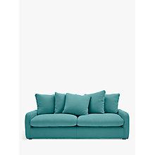 Buy Floppy Jo Large 3 Seater Sofa by Loaf at John Lewis in Brushed Cotton Peacock, Light Leg Online at johnlewis.com