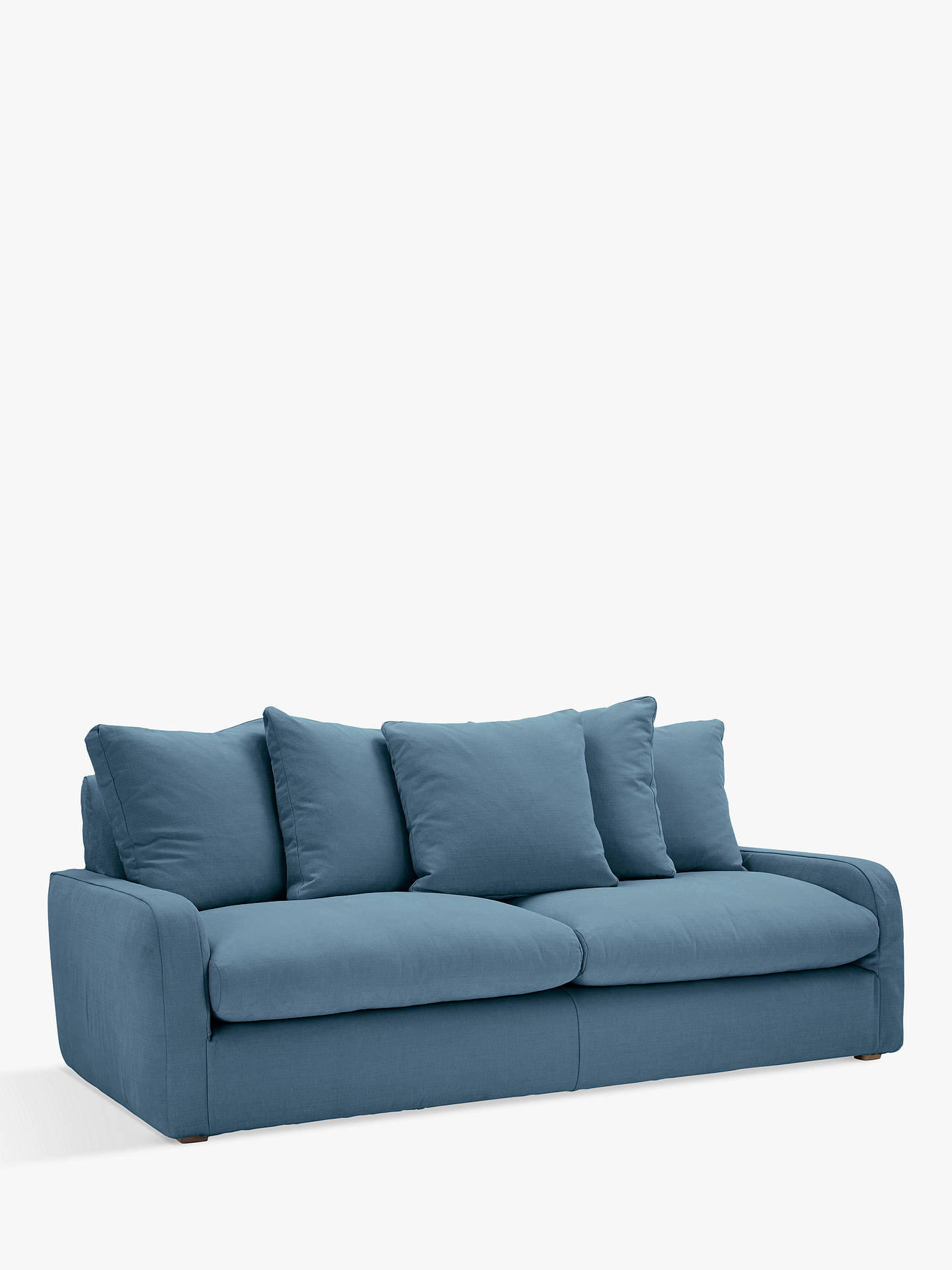 Floppy Jo Large 3 Seater Sofa By Loaf At John Lewis Brushed Cotton Nordic Blue
