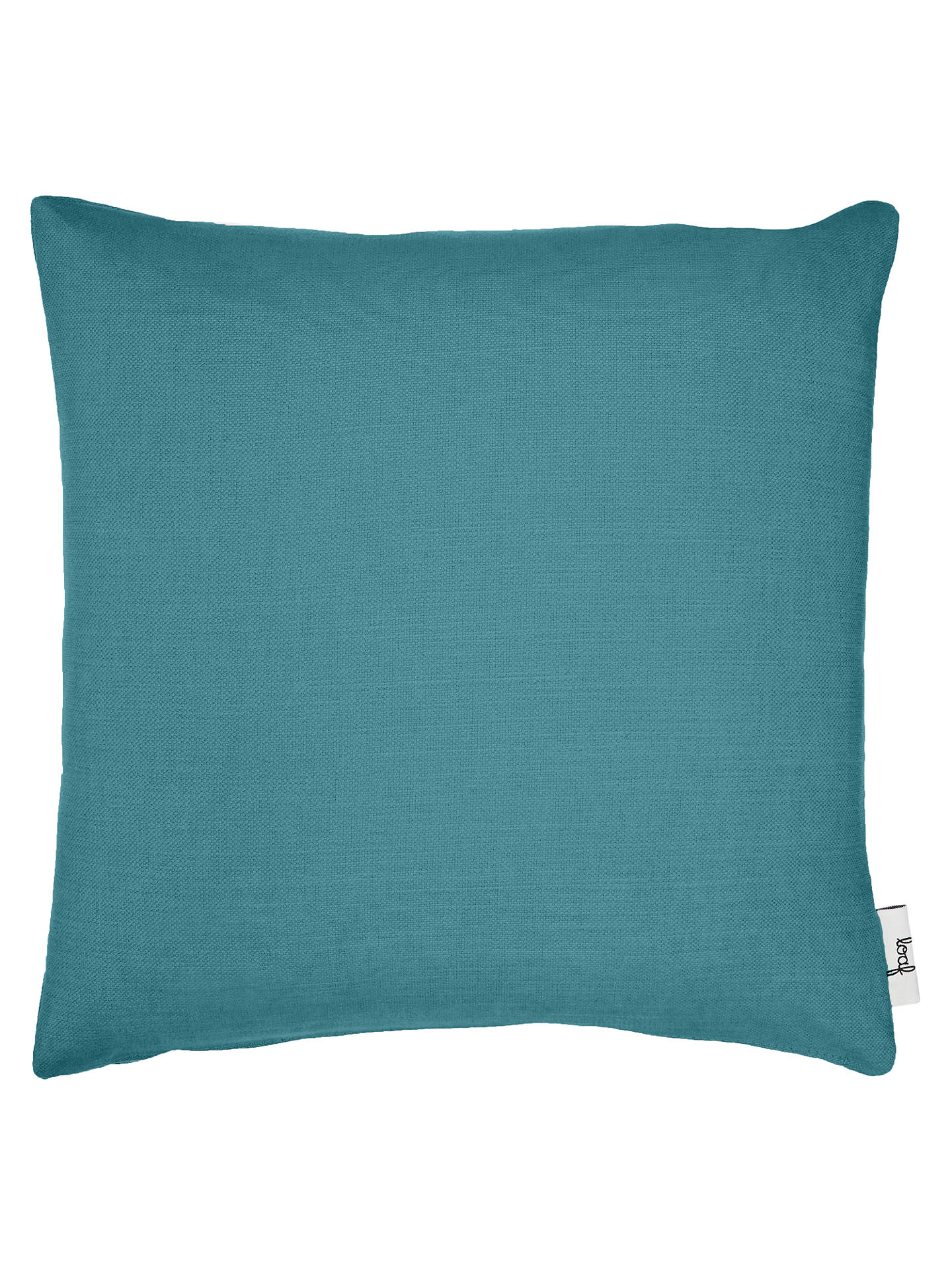Buy Square Scatter Cushion by Loaf at John Lewis, Brushed Cotton Teal Online at johnlewis.com