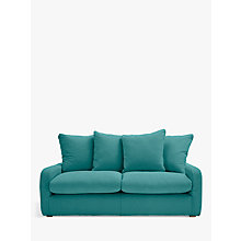 Buy Floppy Jo Medium 2 Seater Sofa by Loaf at John Lewis in Brushed Cotton Peacock, Light Leg Online at johnlewis.com