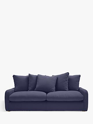Floppy Jo Range, Floppy Jo Large 3 Seater Sofa by Loaf at John Lewis in Brushed Cotton Navy Blue