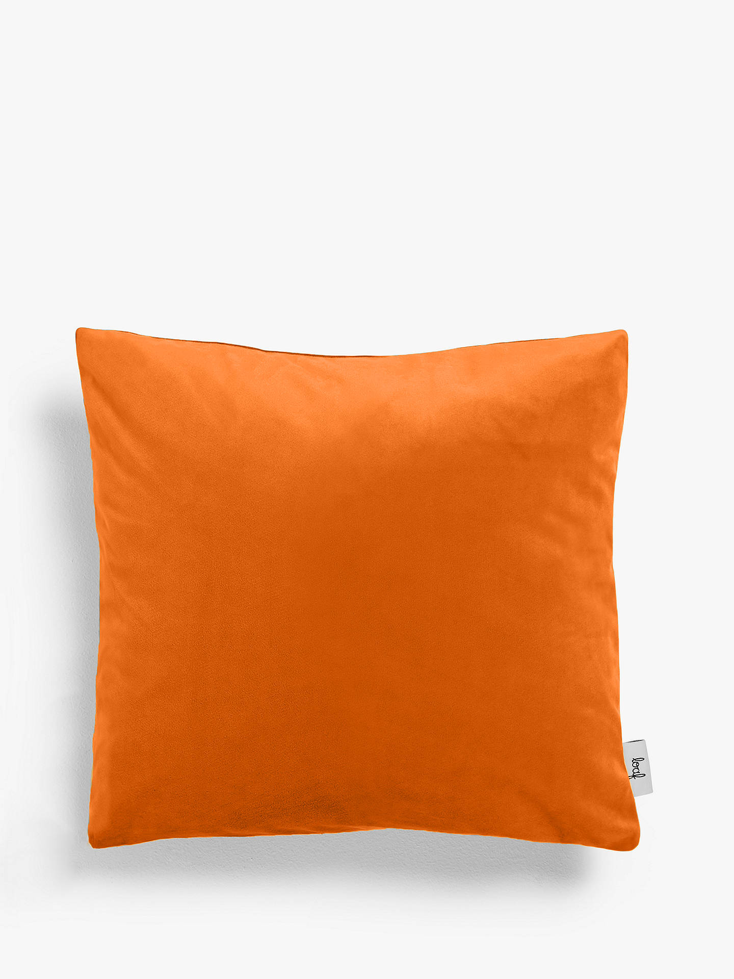 Buy Square Scatter Cushion by Loaf at John Lewis, Clever Velvet Spiced Orange Online at johnlewis.com