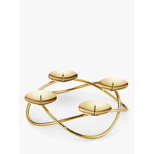 Buy Georg Jensen Season Grand Candle Stick Holder, Gold Online at johnlewis.com