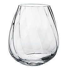 Buy Georg Jensen Facet Vase Tall, H21.5cm, Clear Online at johnlewis.com