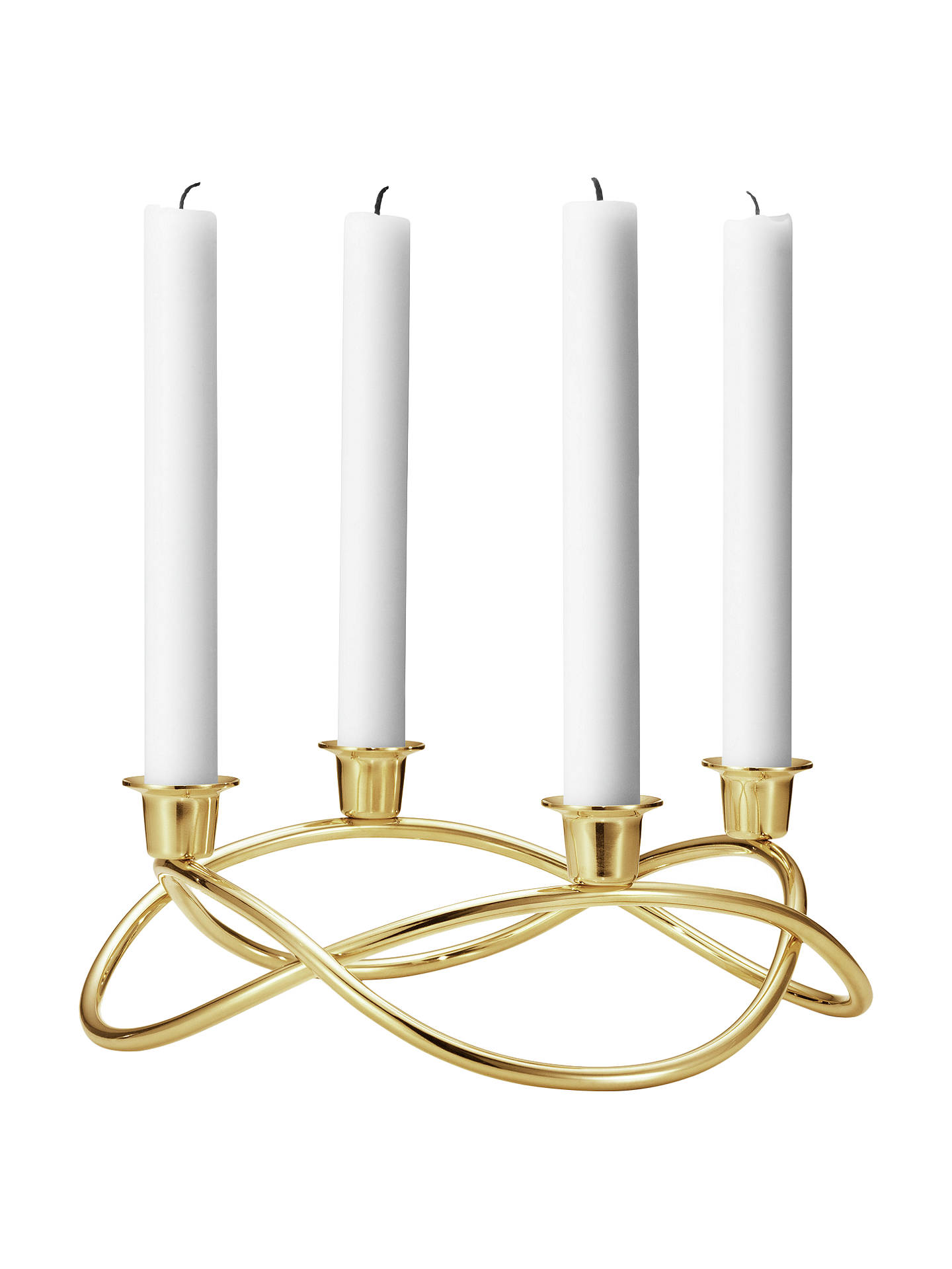 BuyGeorg Jensen Season Gold Plated Candlestick Holder Online at johnlewis.com