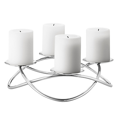 Georg Jensen Season Grand Candle Stick Holder, Steel