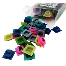 Buy WAFF Glitter Silcone Alphabet Cubes Online at johnlewis.com