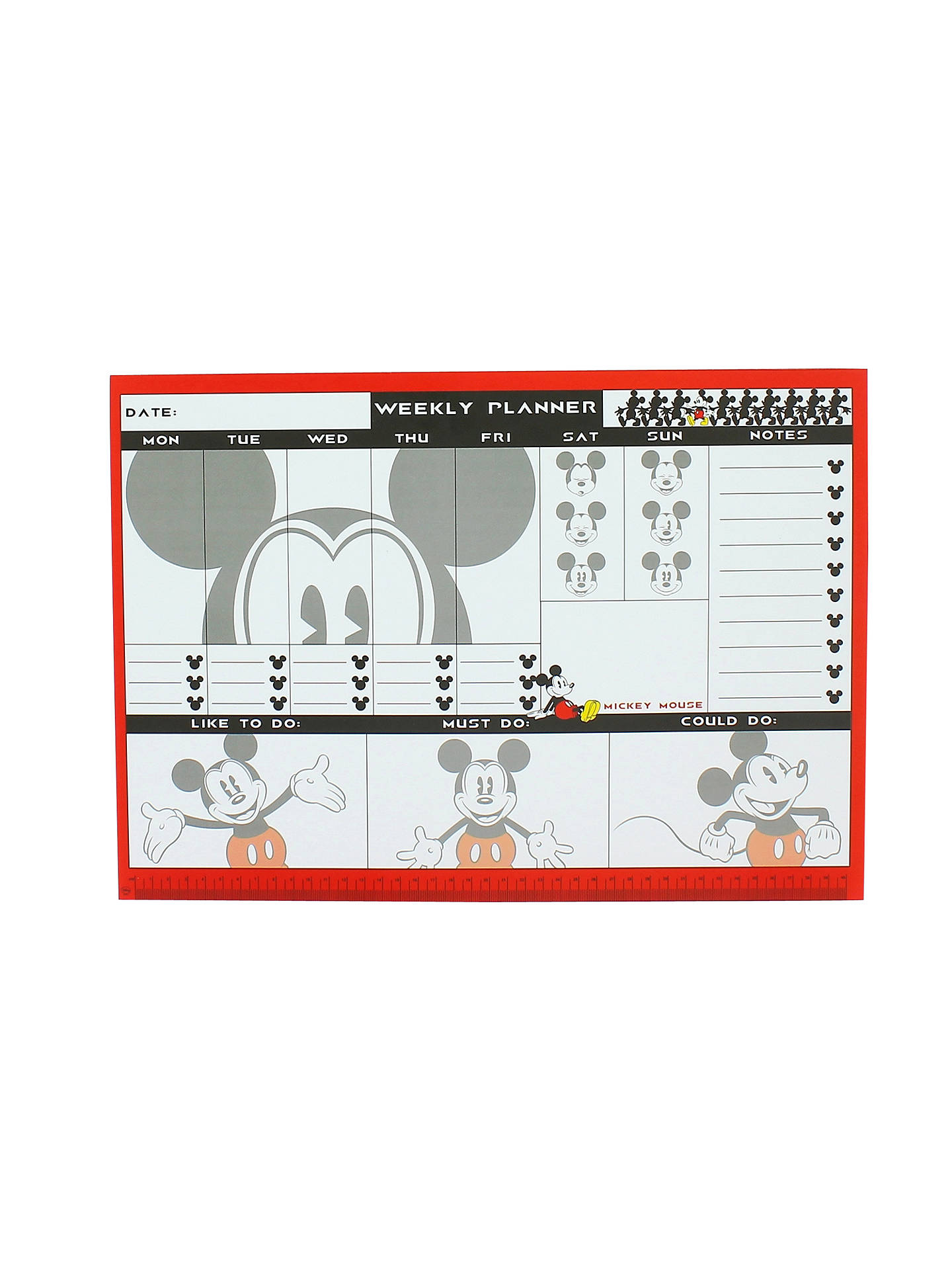 Disney Mickey Mouse Weekly Planner Desk Pad A3 At John Lewis Partners