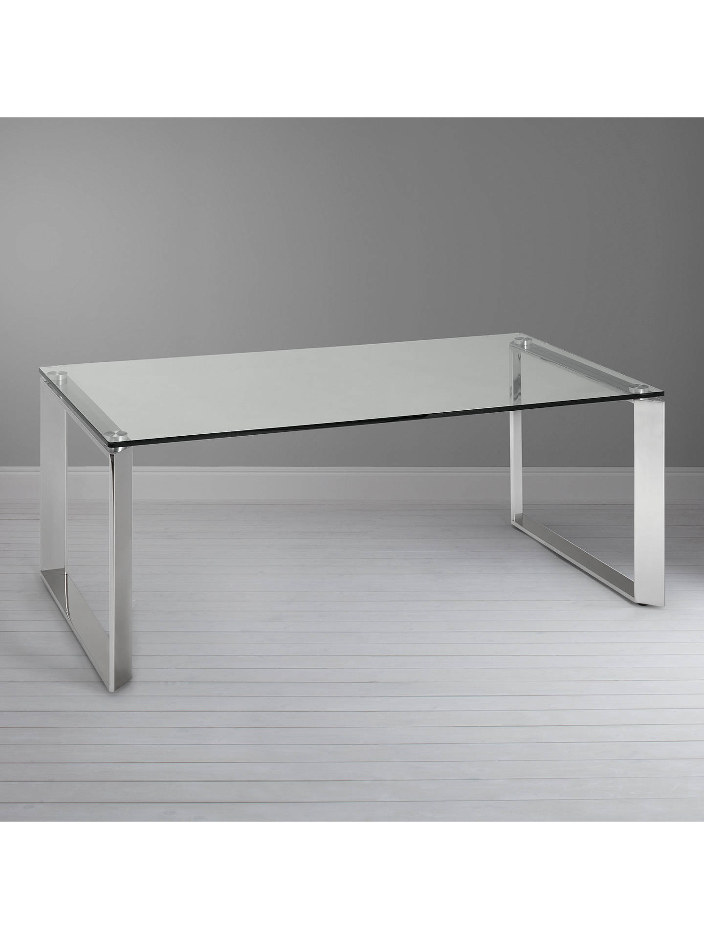 John Lewis Partners Tropez Coffee Table Clearsteel
