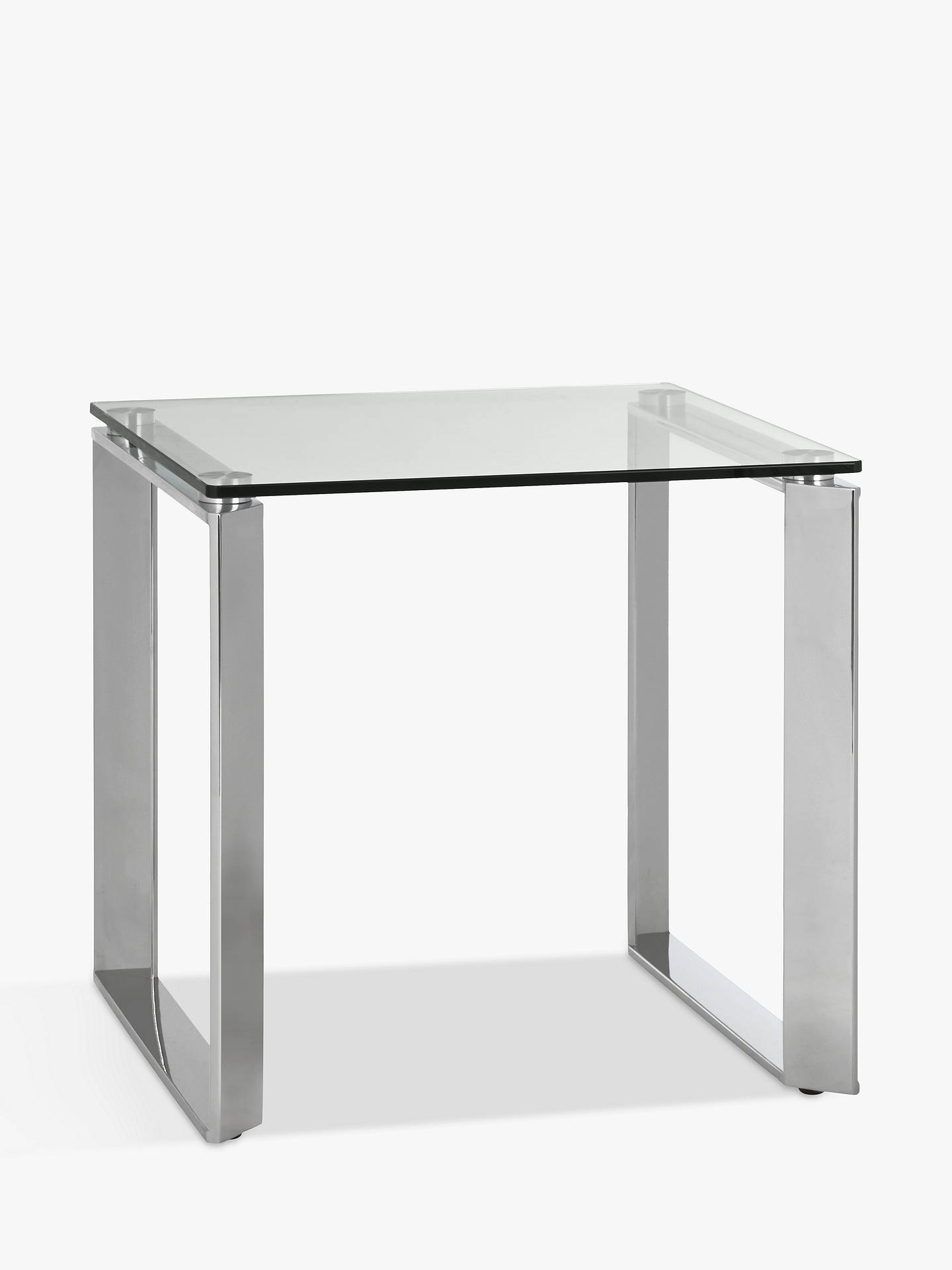 John Lewis Partners Tropez Side Table Clearsteel
