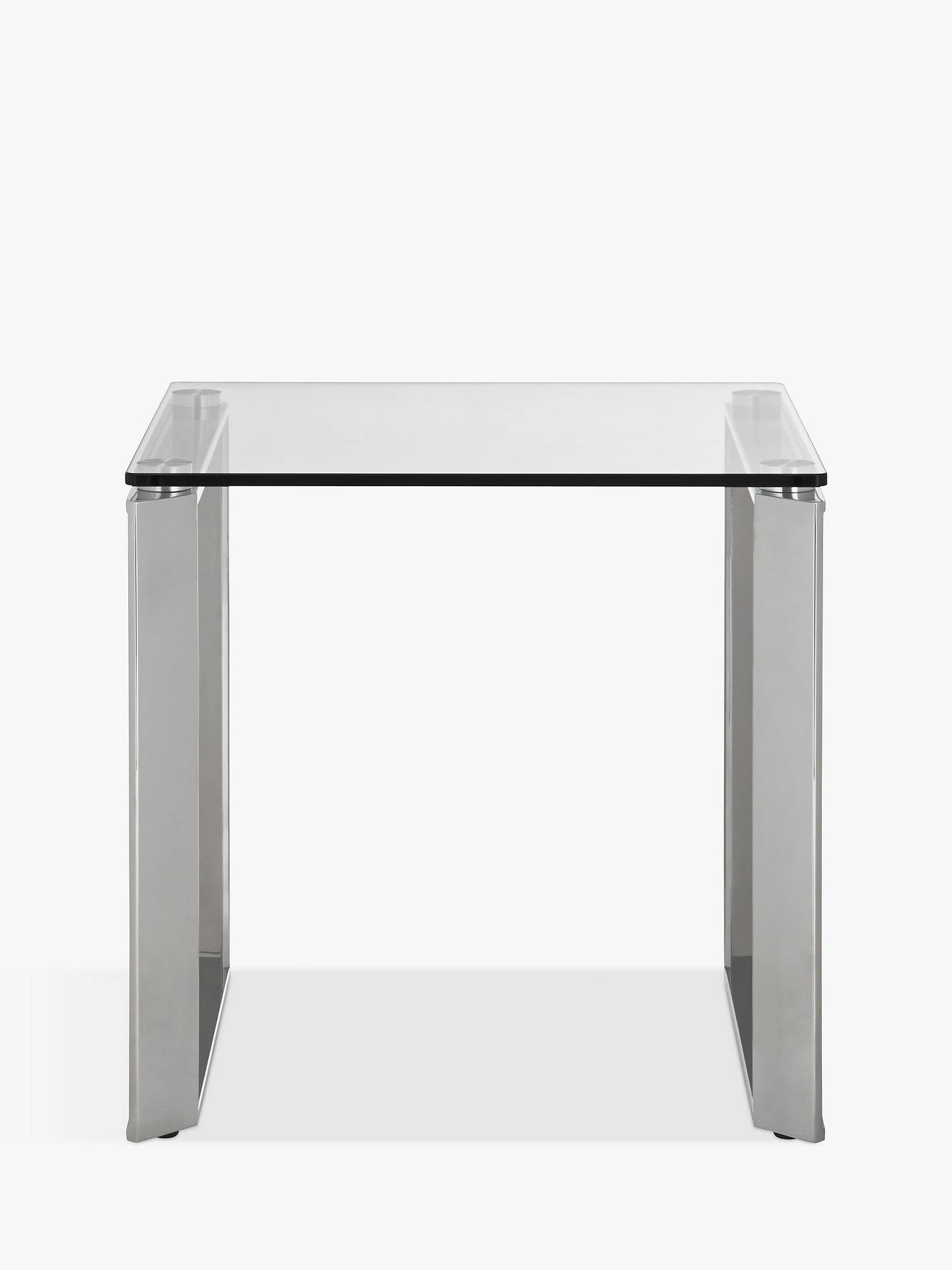 Buy John Lewis & Partners Tropez Side Table, Clear/Steel Online at johnlewis.com