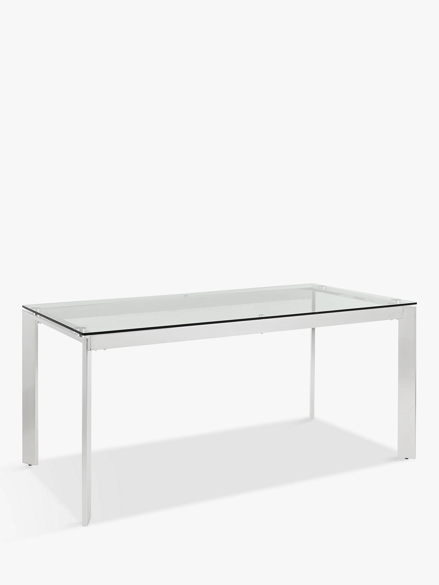 BuyJohn Lewis & Partners Tropez Glass Top Dining Table Online at johnlewis.com