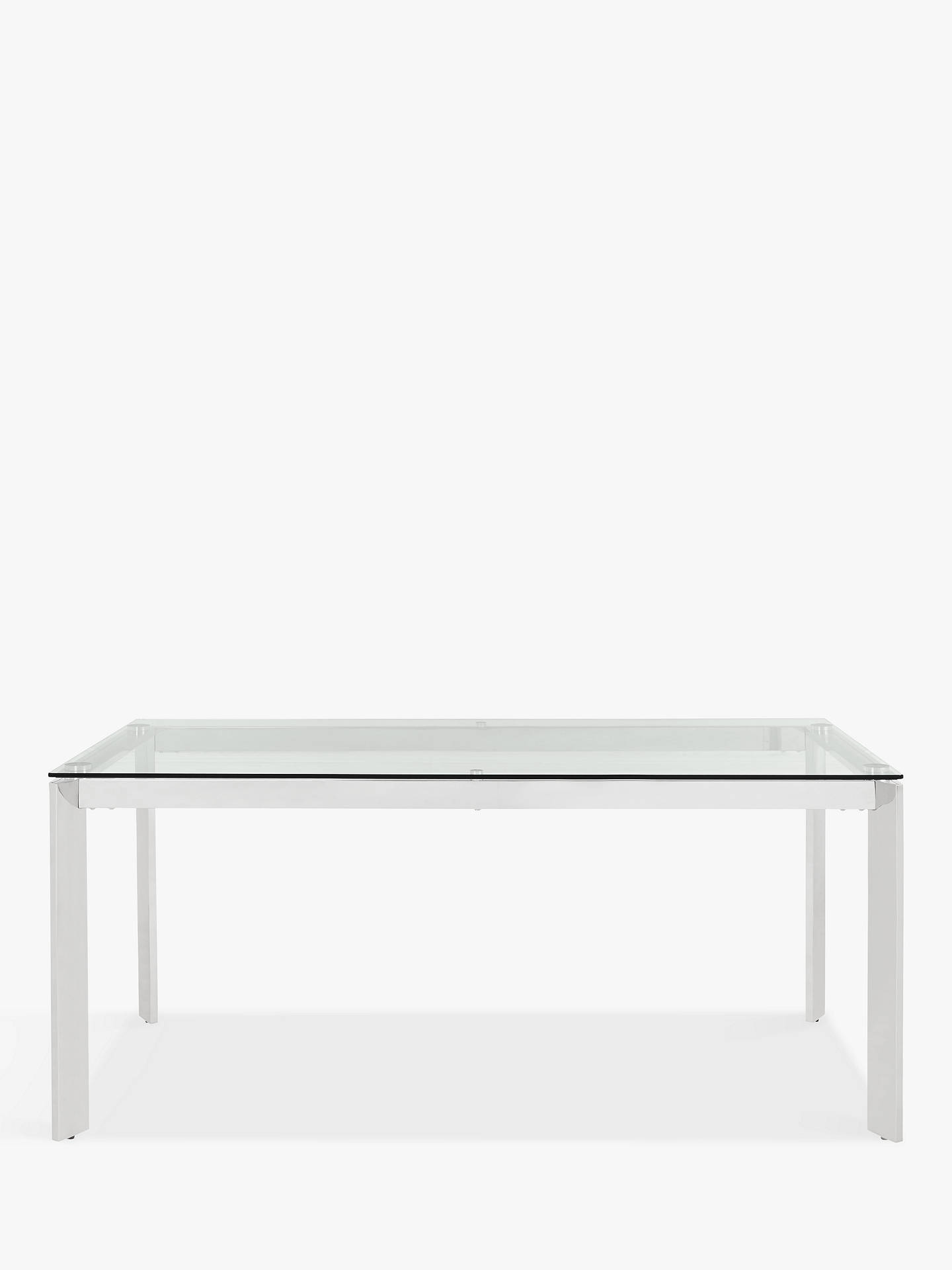 John Lewis Partners Tropez 6 Seater Glass Top Dining Table Clearsteel