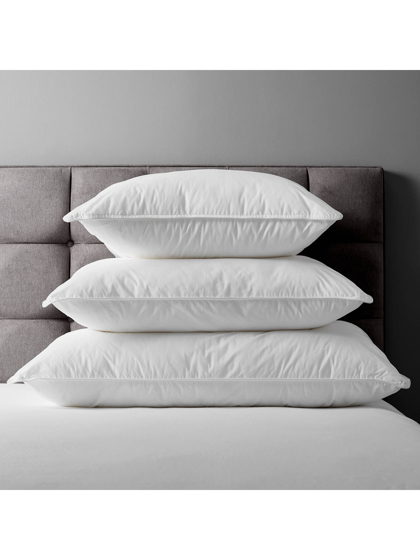 BuyJohn Lewis & Partners Synthetic Soft Like Down Standard Pillow, Medium/Firm Online at johnlewis.com