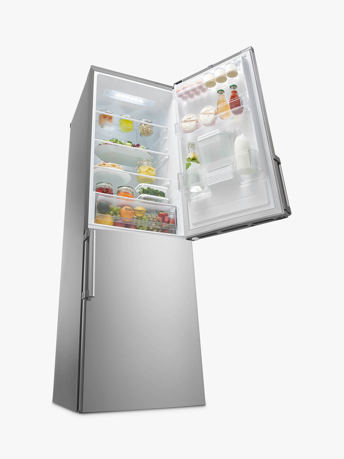 LG GBF59PZKZB Freestanding Fridge Freezer, A++ Energy rating, 60cm Wide,  Premium Steel