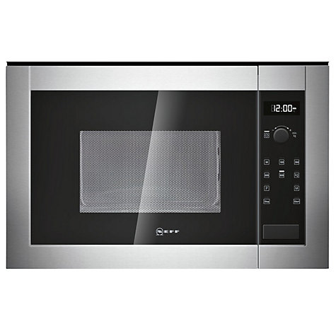 Neff H11we60n0g Built In Microwave Oven Stainless Steel Online At Johnlewis