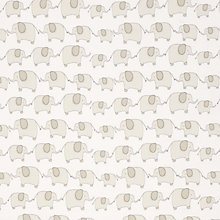 Buy little home at John Lewis Eli Elephant Curtain, Grey Online at johnlewis.com