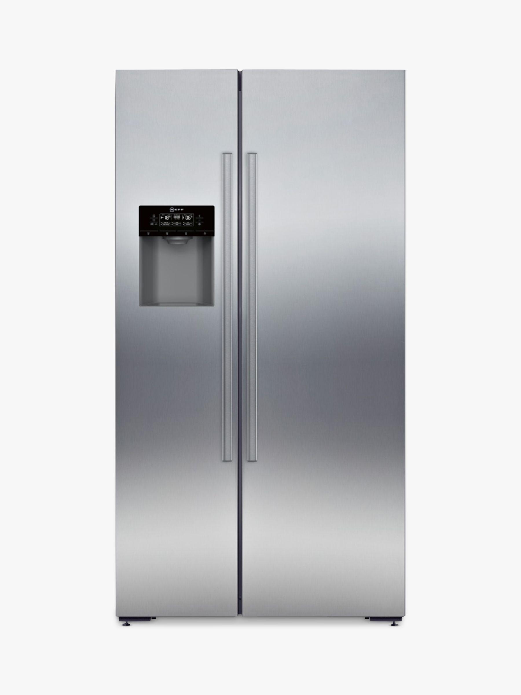 NEFF Neff KA3923I20G American Style Fridge Freezer, A+ Energy Rating, 90cm Wide, Stainless Steel