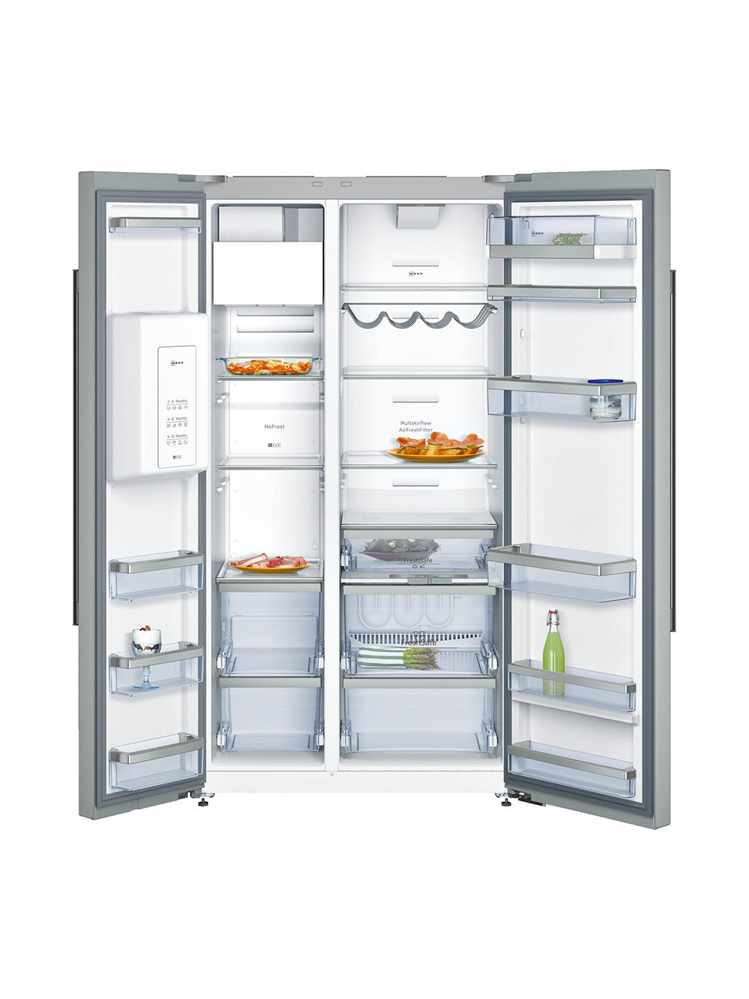 Buy Neff KA3923I20G American-Style Freestanding 70/30 Fridge Freezer, A+ Energy Rating, 90cm Wide, Stainless Steel Online at johnlewis.com