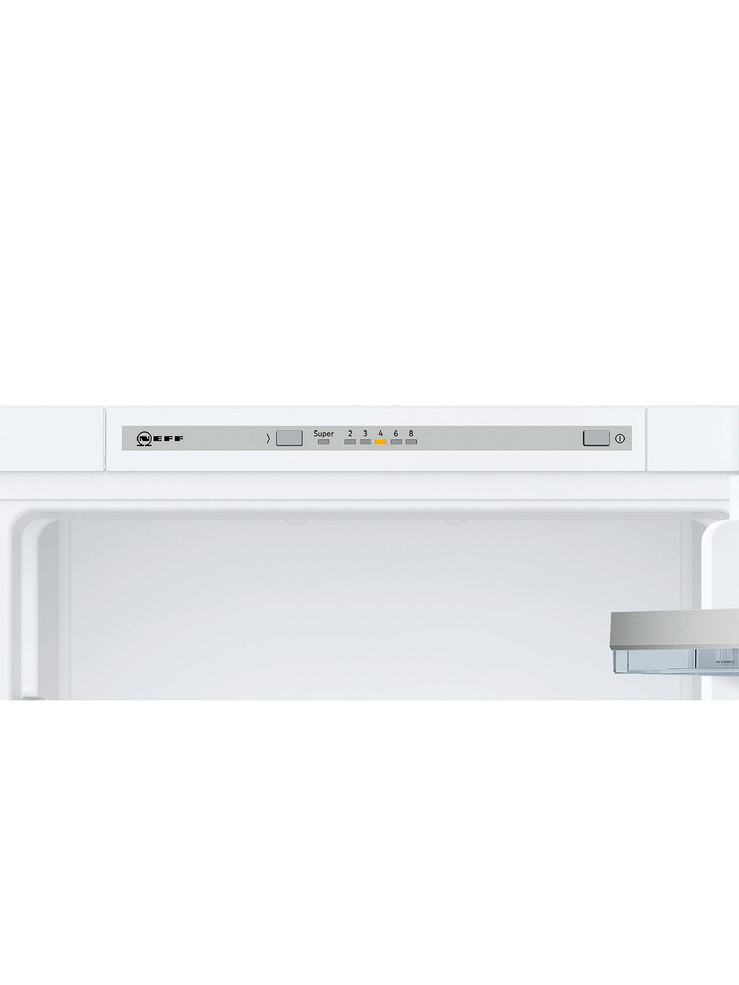 Buy Neff KI5852S30G Integrated 50/50 Fridge Freezer, Sliding Door Hinge, A++ Energy Rating, 56cm Wide, White Online at johnlewis.com