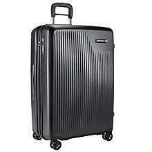 Buy Briggs & Riley Sympatico 4-Wheel Expandable Large Suitcase, Black Online at johnlewis.com